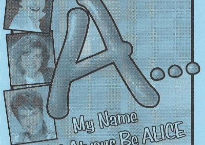 A...My Name Will Always Be ALICE Playbill