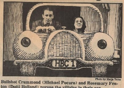 Bullshot Crummond Newspaper Clipping
