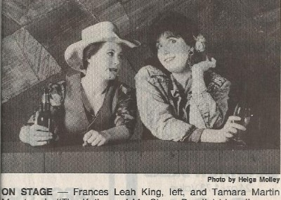 The Kathy and Mo Show Newspaper Clipping